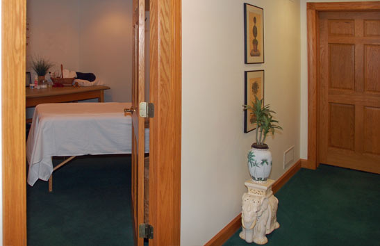 Massage room at Back in Motion Chiropractic